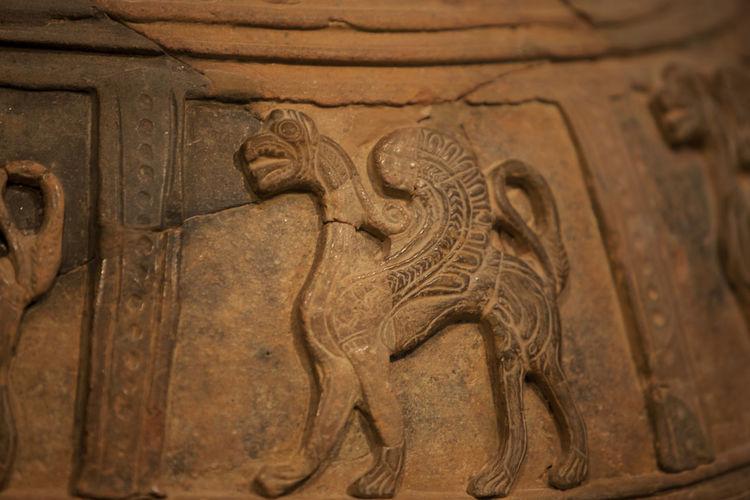Carved amphora