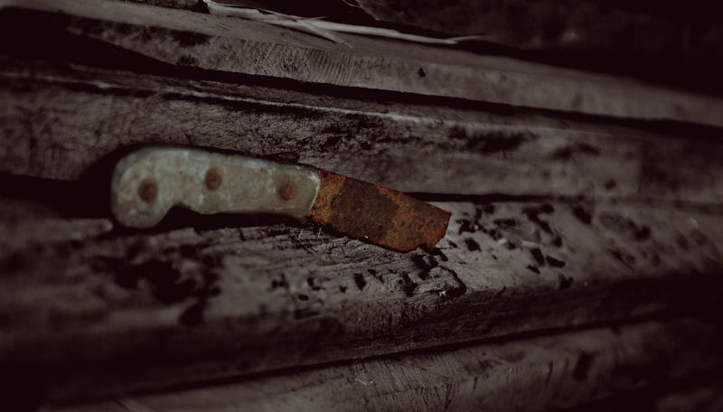 Rustic. Left by time Rusty Vintage Old Left Close-up Knife - Weapon THREATS