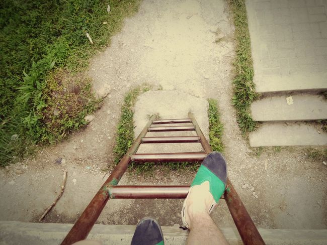 One step at a time Walking Around Vintage Foot Ladder INDONESIA Manado