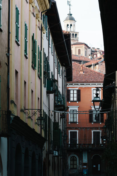 Architecture Balcony Building Exterior Built Structure Canonphotography Christmas City City Cityscape Cuneo Day Italy No People Outdoors Saluzzo  Sky Tower Town Travel Destinations