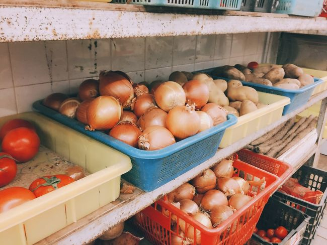 長洲市場 Photography Eyeemtaiwan EyeEm EyeEm Best Shots 市場 香港 Market 長洲 HongKong Hk Food Food And Drink Healthy Eating Freshness Vegetable No People High Angle View