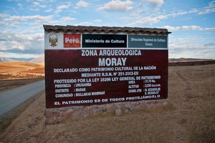 Moray sign in