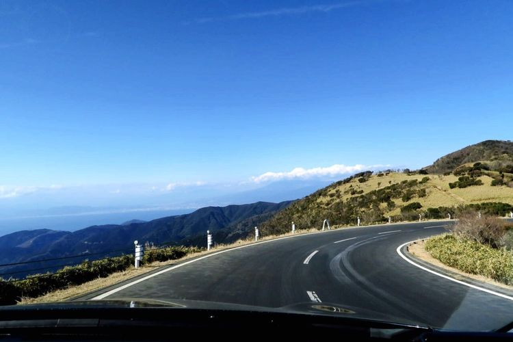 Transportation Road Mountain The Way Forward Blue No People Clear Sky Nature Mountain Range Day Sky Scenics Outdoors Journey Asphalt Beauty In Nature Winding Road Mountain Road Infiniti Skyline