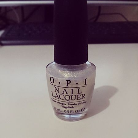 Time to be different. ?? OPI Nail Lacquer Potion color white golden gold single step part one get love back beauty beautiful change lady girly girl different better save life enjoy hope wish myself dream