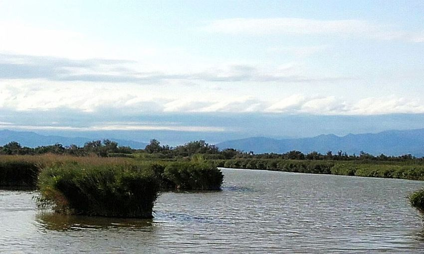 "Catalonia is Beautiful. Place: ""Parc natural dels Aiguamolls de l'empordà."" Mountains Pond Water Shades Of Nature Catalunya Natural Park Nature Clouds No People Catalunya"