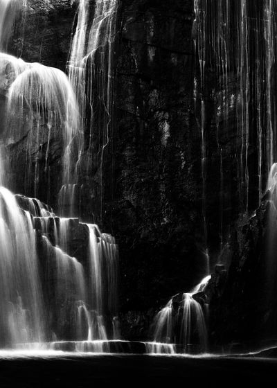 Rock Rock - Object Waterfall Solid Scenics - Nature Water Motion Long Exposure Beauty In Nature Rock Formation Flowing Water Blurred Motion Nature Flowing No People Outdoors Day Power In Nature Falling Water Purity Black And White Photography Black And White Mackenzie Falls Australia Australian Landscape