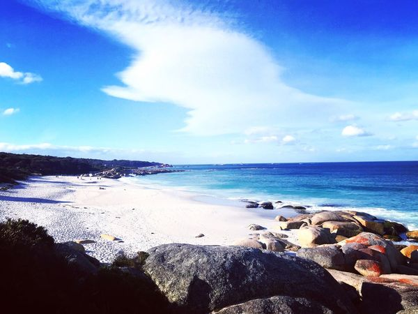 The bay of fire Bay Of Fires Sea Water Sky Beach Land Scenics - Nature Cloud - Sky Blue Travel Sand Outdoors Beauty In Nature Tranquil Scene