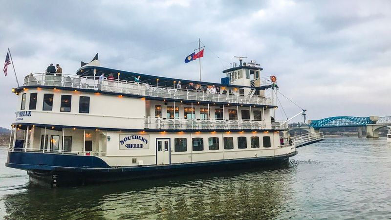 Waterfront Outdoors Flag Tennessee River  Southern Belle Chattanooga Tennessee Riverboat Water Tourism Travel First Eyeem Photo