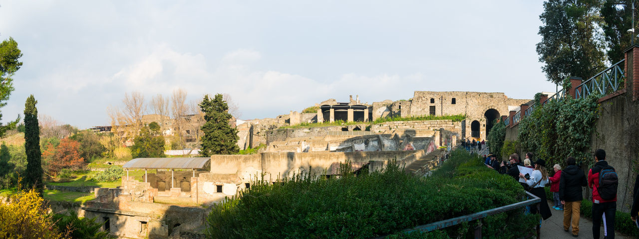 Panoramic view of historical building against sky