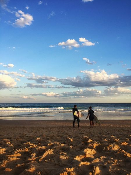 Surfers Horizon Over Water Beach Sky Cloud - Sky Surf Surfer Surfers Summer EyeEm Best Shots VSCO