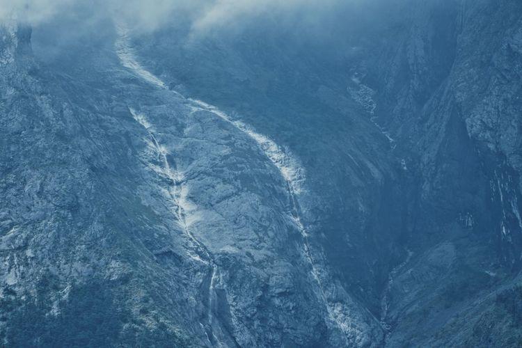 Full frame shot of sea during winter