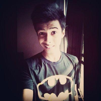 Happiness is owning a Batman tee :') Batman Selfie Yeay .