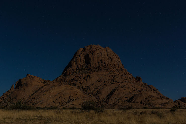 Spitzkoppe at Night Namibia Landscape Spitzkoppe Nature No People Rock - Object Travel Destinations Rock Formation Tranquil Scene Beauty In Nature Night