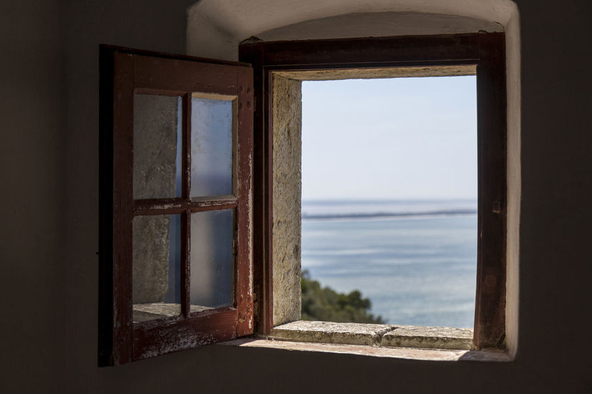 Blessed by this view...! Nature Reflection Darkness And Light House By The Sea Old House Sea Sky Window