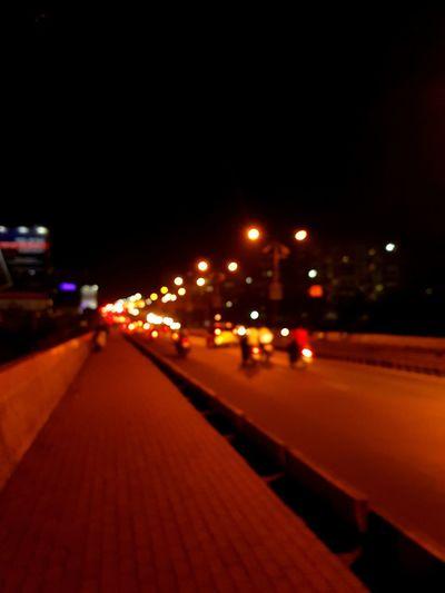 Illuminated Night Street City Street Light City Life Outdoors Transportation Red No People Road Building Exterior Sky
