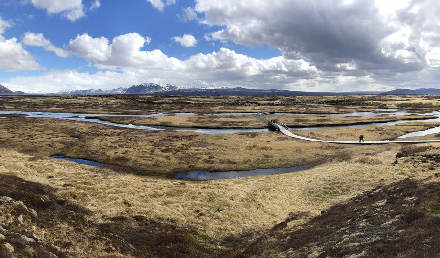 Landscape Cloud - Sky Sky Environment Scenics - Nature Non-urban Scene Day Nature Mountain Beauty In Nature Outdoors Horizon Horizon Over Land Land Moss Idyllic Tranquility Tranquil Scene Iceland Wild Wildlife & Nature Snowcapped Mountain Textured  River Glacier