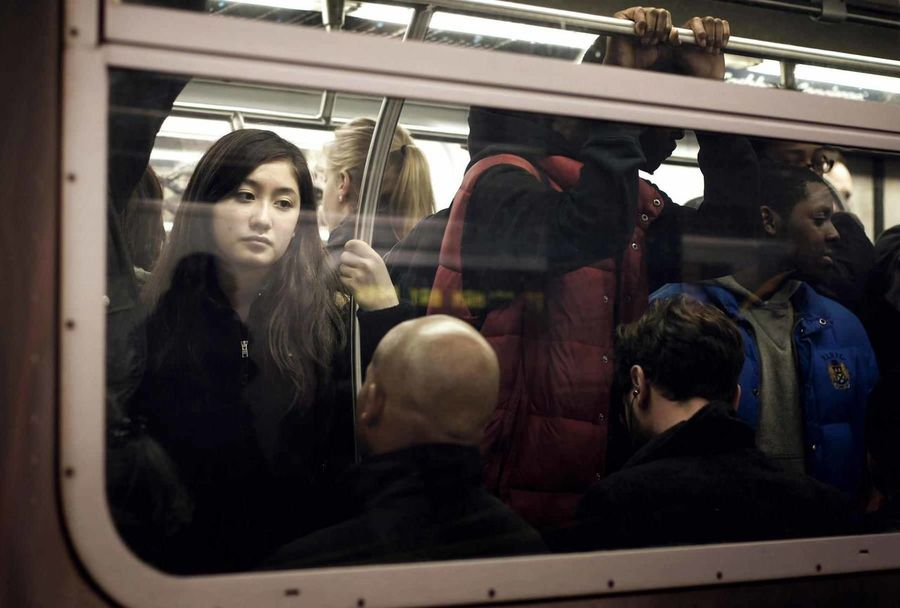 In her thoughts. Newyork Subway 2013
