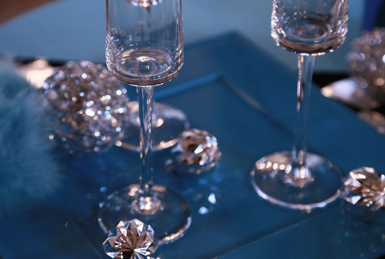 Glass on the table