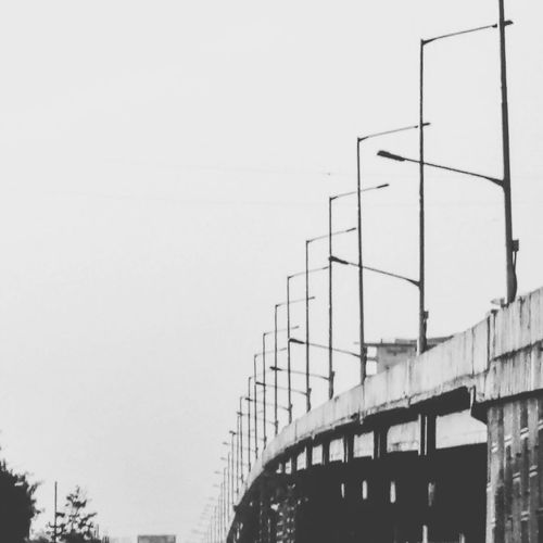 Connection Architecture No People Bridge - Man Made Structure Outdoors Day Built Structure Sky Minimalism Traffic Photography First Eyeem Photo