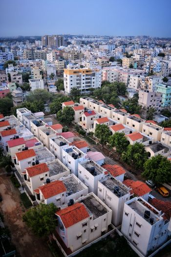 High Angle View Building Exterior Architecture Cityscape City Roof Built Structure House Residential Building Outdoors Aerial View Travel Destinations Sky Day No People Flying High Hyderabad Landscape Dslrphotography Learn & Shoot: Balancing Elements Nature Beauty In Nature Color Revolution Eyemphotography Freshness