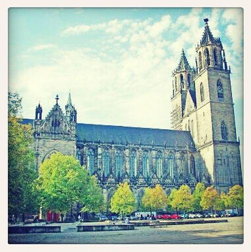 Dom Sommer Sommerfeeling Hello World Gotik Magdeburger Dom
