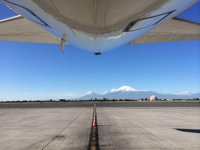 Erevan Ararat  Ararat Mountain Apron Airport Airplane Asphalt Mountain Runway