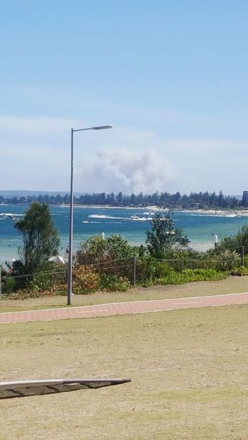 You can see the bushfires.. Sydney Sydney, Australia Brighton Beach Sand & Sea Bushfireseason Water Tree Beach Sea Sky Day Outdoors Sand Beauty In Nature Beach Volleyball No People Baseball - Sport Blue Tranquility Nature Soccer Field Goal Post Sport