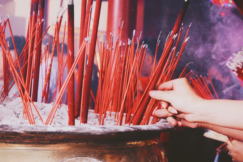 Chinese New Year Smoke Red Human Hand Red Close-up Holi Festival Traditional Festival Religious Celebration #FREIHEITBERLIN