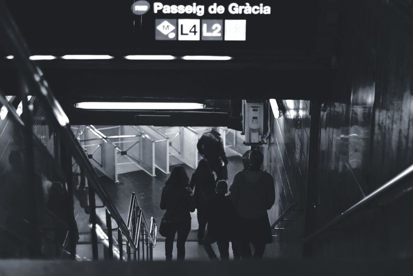 Subway Barcelona Blackandwhite Hello World Check This Out Subway Taking Photos Streetphotography Darkness And Light Exploring Popular Photos