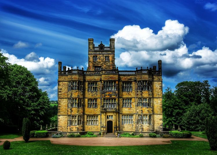 Architecture Cloud - Sky Sky Built Structure Building Exterior Tree Day History National Trust No People Nature Outdoors Gawthorpe Hall Burnley North West England Blue Sky