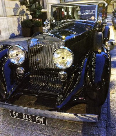 Roll Royce Luxury Old-fashioned Retro Styled Vintage Car Car Picoftheday Champs-Élysées  Iphonography