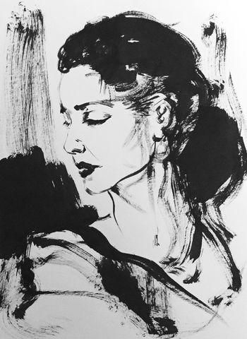 Portrait of a woman Drawings ArtWork Blackandwhite Drawingsbyme Sketch Art Drawing Ink Drawing