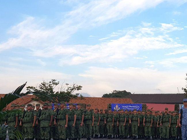 Sembawang Camp Graduation Parade Basic Military Training 7 Sept 2017 Sg_streetphotography Streetphotography Bnwstreetphotography Bnwsingapore Bnwphotography Singapore