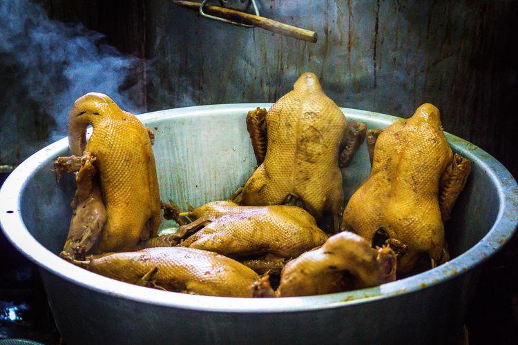 Steamed duck