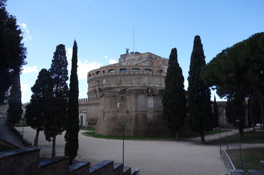 Building Exterior Castel Sant'Angelo Famous Place Historic History Roma Sanangelocastle