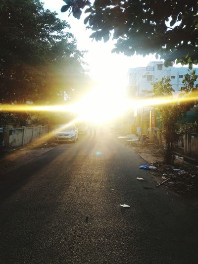 Sun shine.. Streetphotography Sunshine Overbright Streets Path Sunphotography Naturelover Eyemphotography Temples Of Trichy Outing Mobilephotography Capture The Moment Exam Time EymEm Nature Lovers Eym Best Shots