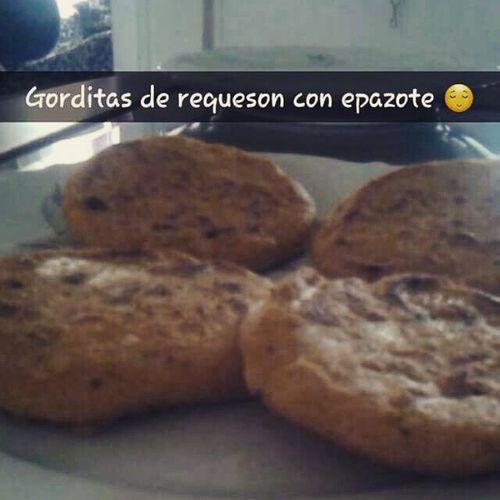 Yummy! !! Gorditas Requeson Epazote