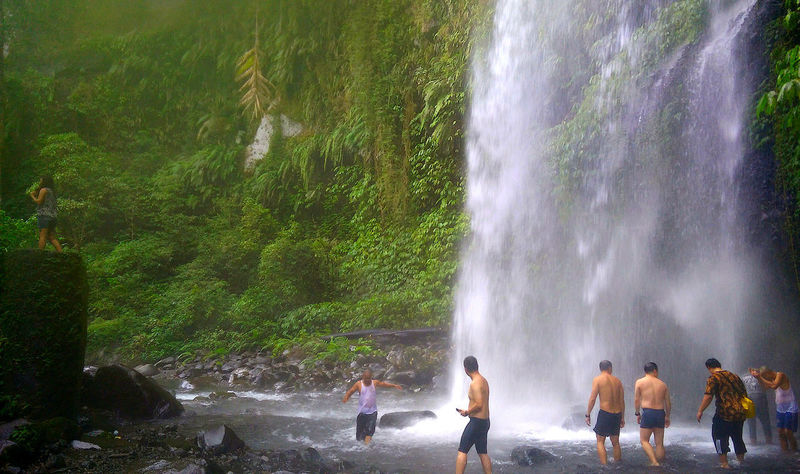 Shirtless Bathers Beauty In Nature Blurred Motion Cascade Crowd Crystal Clear Waters Enjoyment Flowing Flowing Water Freshwater Group Of People Long Exposure Men Motion Nature Plant Power In Nature Real People Splashing Spraying Tree Water Waterfall Waterfalls EyeEmNewHere
