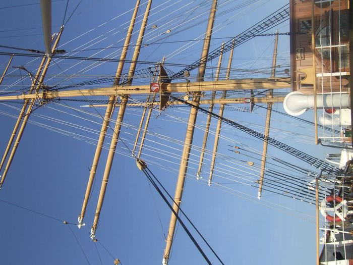 Mast Of Sailboat Against Sky