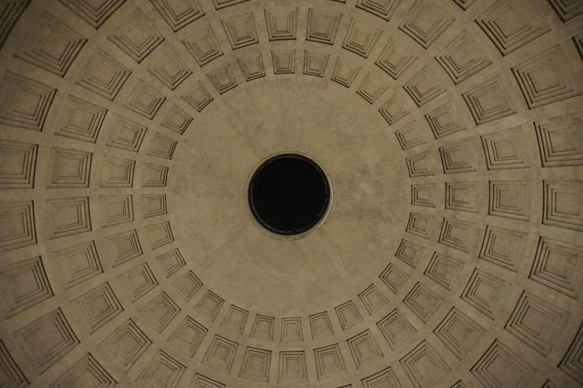 Agrippa Circle Geometry Historic Ornate Pantheon Religion Roma Rome Symmetry Textured