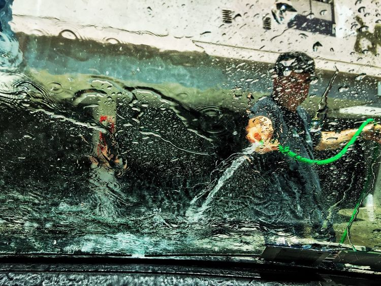 Transportation Car Window Water Mode Of Transport Land Vehicle Wet Day Cleaning Indoors  Car Wash Close-up Window Washer