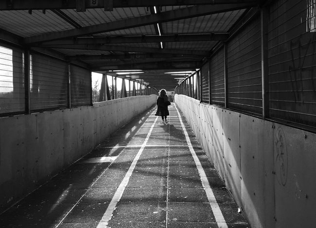 WALKAWAY Alone Diminishing Perspective Foot Bridge Into The Light Leading Leading Lines Leading The Way Light And Shadow Pedestrian Perspective Single The Way Forward Tunnel Walk This Way Walking Alone Walking Away Neasden London Pmg_lon