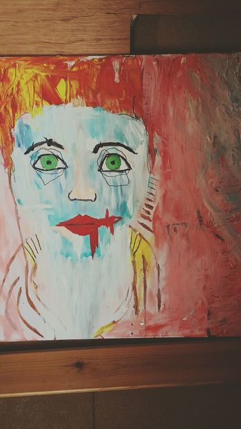 Canvas Painting Face Colourful
