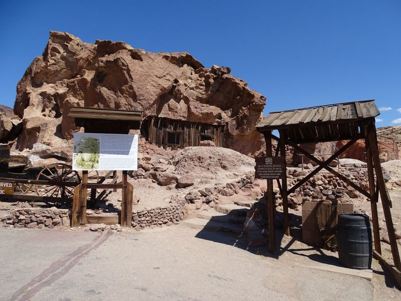 Calico Ghost Town USA EyeEmNewHere EyeEm Best Shots Blue Sky CalicoGhostTown Calico Ghost Town Calico Clear Sky Sunlight Day Outdoors Sand No People Built Structure Mountain Arid Climate Architecture Landscape Nature Desert Sky