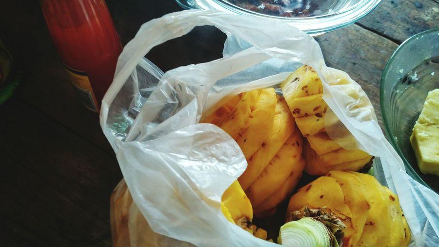 """ the pineapple :) [ golek sego'pecel gung buka ] The Pineapple Clan Pineapples Color Of Life Nanas Tropical Fruits Buah Lokal Fruits Lover Sarapan Pagi Sarapan Buah Breakfast Time"