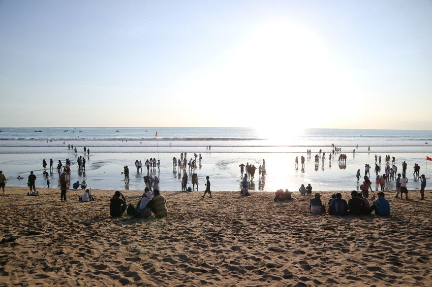 Kuta Beach, Denpasar Bali Indonesia Adult Adults Only Beach Beauty In Nature Day Horizon Over Water Large Group Of People Nature Outdoors People Sand Sea Sky Summer Vacations Water Wave