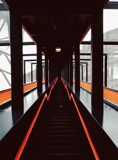 Orange. Vscocam Zeche Zollverein Orange Architectural Detail Architecture_collection Building Exterior Architecture Facade Architecture Photography Architecture My Point Of View Built Structure Multi Colored Orange Color Orange