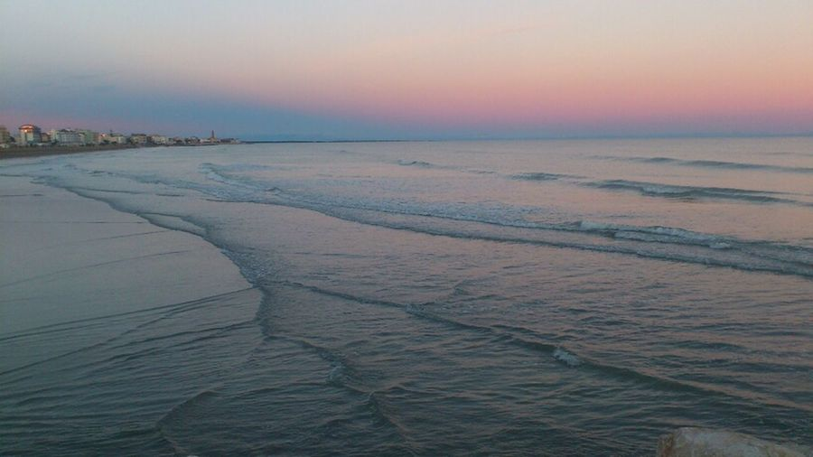 Adriatic sea at sunset, Caorle, Italy