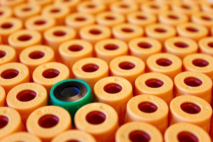 Full frame shot of test tubes in laboratory