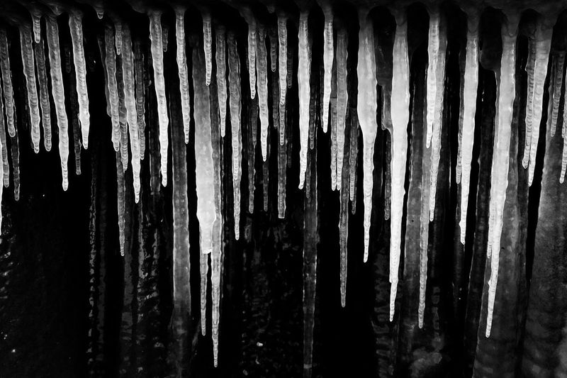 Brrrr Chicago Blackandwhite Lake Michigan Ice Cold Temperature Cold Icecicles No People Backgrounds Day Nature Outdoors Close-up Dripping